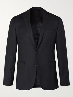 Officine Generale Slim-Fit Herringbone Wool Suit Jacket