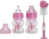 Dr Browns Pink 4-Oz. Wide-Neck Bottles & Bottle Brush