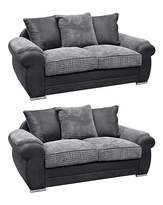 Fashion World Adelaide 2 Seater and 2 Seater Sofa