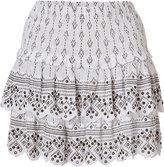 Isabel Marant Embellished Cotton Mini-Skirt in White