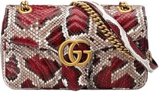 Gucci GG Marmont small python shoulder bag