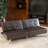 Christopher Knight Home Alston Click-Clack Oversized Convertible Faux Leather Sofa