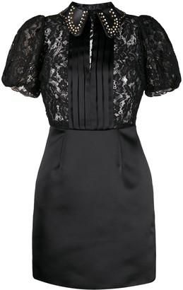 Elisabetta Franchi Lace-Panel Mini Dress