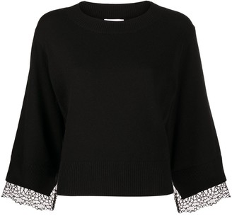 See by Chloe Lace-Trim Jumper