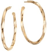 Lana Royale 14K Yellow Gold Wave Twist Hollow Hoops