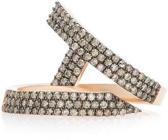 TULLIA Magic A 14K Rose Gold Diamond Initial Ring