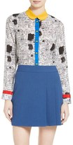 Alice + Olivia Gary Print Silk Blouse