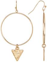 Canvas Open Hoop Triangle Drop Earrings