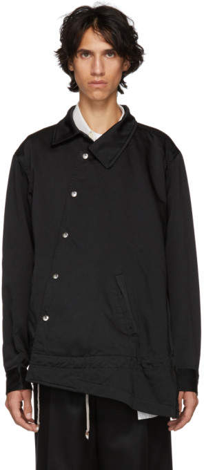 Comme des Garcons Black Satin Garment Jacket