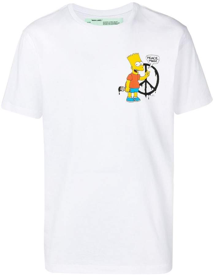 Off-White Bart Simpson print T-shirt