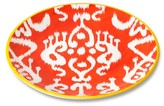 Mudhut Ikat 10.5in Melamine Dinner Plate - Orange/White