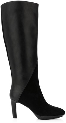Aquatalia Rayne Knee-High Leather & Suede Boots
