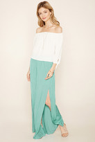 Forever 21 FOREVER 21+ Contemporary Pleated Maxi Skirt