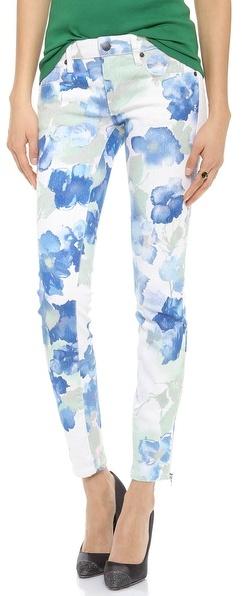 Genetic Denim James Floral Lurex Skinny Jeans