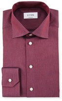 Eton Contemporary-Fit Two-Tone Dress Shirt, Red/Gray