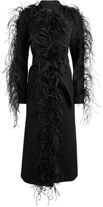 Giambattista Valli Feather-Trim Trench Coat