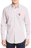 Thomas Dean 'Oklahoma Sooners' Regular Fit Long Sleeve Tattersall Sport Shirt