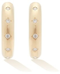 Zoë Chicco Diamond & 14kt Gold Hoop Earrings - Gold