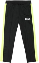MSGM Kids Technical jersey trackpants