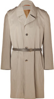 Marc Jacobs Grey Cotton Trench Coat with Leather Belt