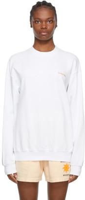 Sporty and Rich White Classic Logo Sweatshirt