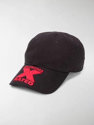 Balenciaga X-Rated print baseball cap
