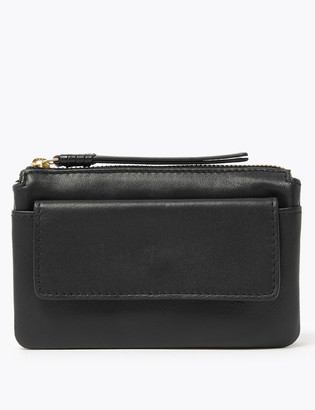 Marks and Spencer Leather Zip Around Travel Wallet