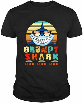 Generic Retro Vintage Grumpy Shark Gift for Father Mother T Shirt Hoodie Swearshirt