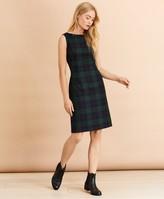 Brooks Brothers Tartan Wool-Blend A-Line Dress