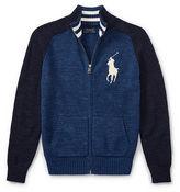 Ralph Lauren 8-20 Cotton Full-Zip Sweater