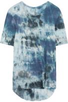 Raquel Allegra Tie-dyed Jersey T-shirt - Blue