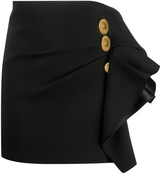 Versace Ruffled-Detail Mini Skirt