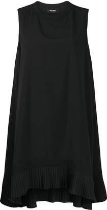 Twin-Set pleated hem sleeveless dress