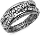 Effy Women's Diamond and 14K White Gold Ring, 0.9 TCW