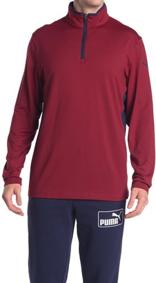 Puma Red Rotation 1/4 Zip Golf Pullover