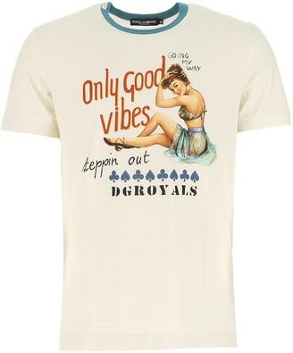 Dolce & Gabbana Slogan Print T-Shirt