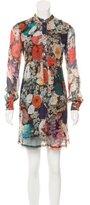 Raquel Allegra Long Sleeve Floral Print Dress