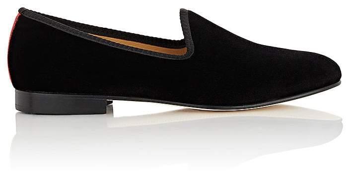 Del Toro Men's Velvet Venetian Slippers