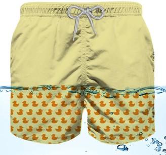 MC2 Saint Barth Swimshort Boy With Temperature-reactive Print - Ducky Print
