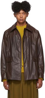 Dries Van Noten Brown Faux-Leather Jacket