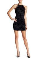 Trixxi Flocked Scuba Short Slim Dress