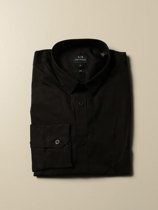 Armani Exchange Cotton Shirt With Italian Collar