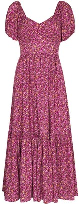 LoveShackFancy Angie floral-print midi dress