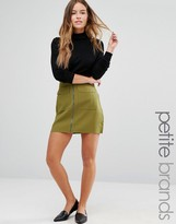 Missguided Petite Exclusive Zip Pocket Front Mini Skirt
