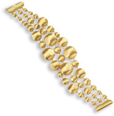 Marco Bicego Lunaria 18K Gold Three-Row Bracelet