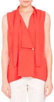 Proenza Schouler Tie-Neck Sleeveless Wrap Top