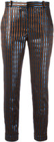 Carven striped pants - women - Polyester/Acetate/Viscose/Metallized Polyester - 36
