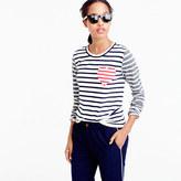 J.Crew Inset heart striped combo T-shirt