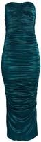 Dolce & Gabbana Lame Stretch-Silk Ruched Midi Dress