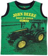 """John Deere Boys 4-7 Best in Field"""" Muscle Tank"""